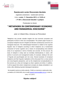 metaphors in contemporary economic and managerial discourse