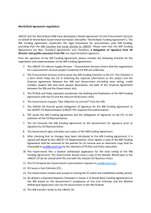 WB Funding Agreement Guidance Note for Country Offices