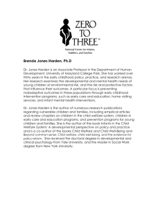 Brenda Jones Harden * Brief Biographical Sketch