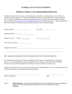 Domestic Violence Leave Request form