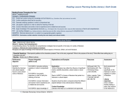 6 Sixth Grade Lesson Planning Guide- Literary BM4