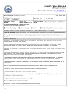 7602 - Special Education Child Find Coordinator