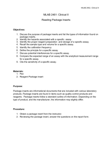 MLAB 2461- Clinical II MLAB 2461: Clinical II Reading Package