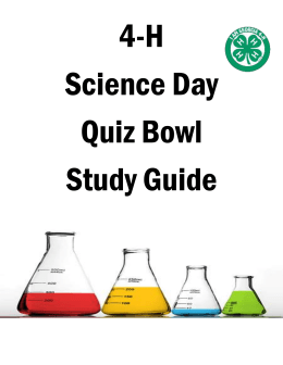 4-H Science Day Quiz Bowl Study Guide Which substance is man