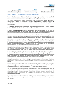fact sheet: new drug driving offence