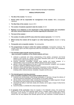 university of kent – code of practice for quality assurance MODULE