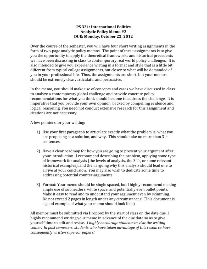 Policy memo 2 instructions altavistaventures Gallery