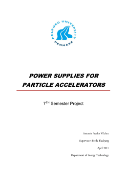 Power Supplies for Particle Accelerators