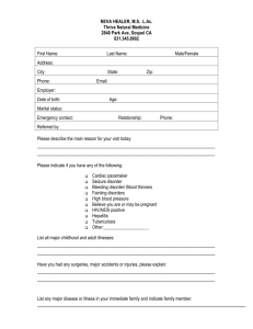 Intake Form - Thrive Natural Medicine