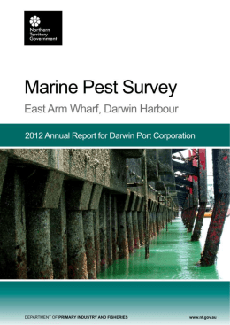 2012 - Marine Pest Survey - East Arm Wharf