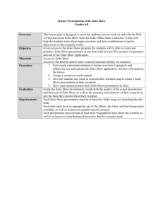 Overview This lesson plan is designed to teach the students how to