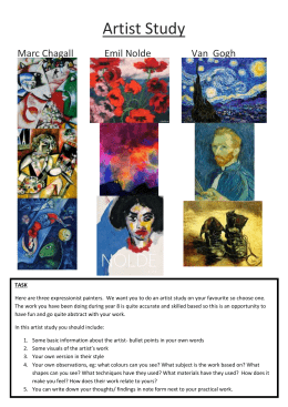 Artist Study - Anthony Gell School