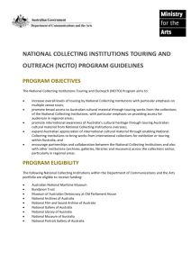 NCITO Program guidelines