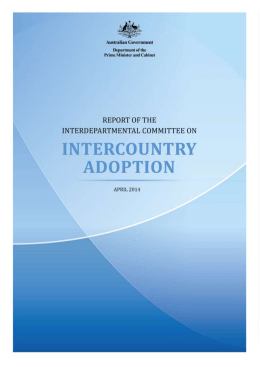 Australia and intercountry adoption