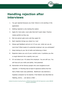 Handling rejection - Goddard Consultants