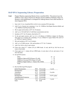 RAP-DNA Sequencing Library Preparation