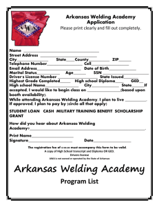 AWA application - Arkansas Welding Academy