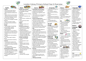 Curriculum Map - London Colney Primary & Nursery School