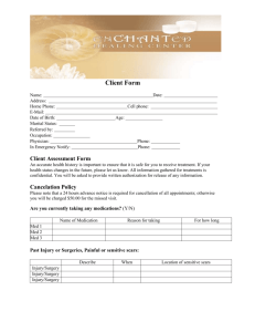Client Form - Enchanted Healing Center