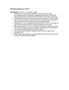 GSC Meeting Minutes 10/18/11