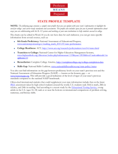 State Profile Template - Higher Education for Higher Standards