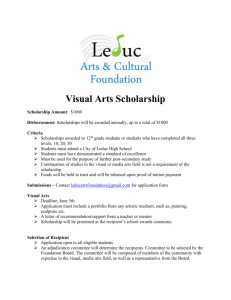 Visual Arts Scholarship - The Maclab Centre for the Performing Arts