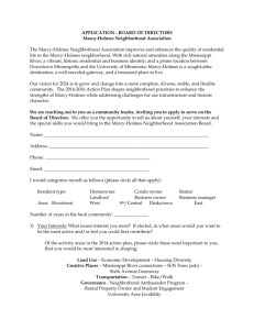 application - Marcy Holmes Neighborhood Association