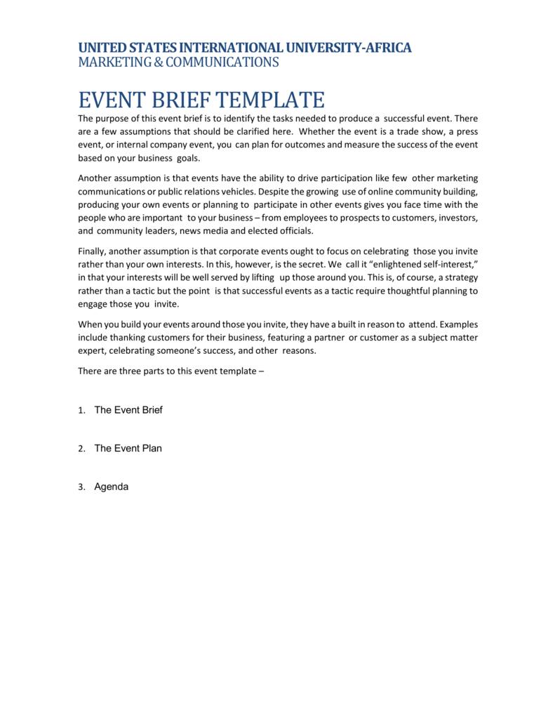 Event Brief United States International University