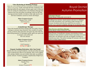 Autumn Promotion 2015 p 1 &2 - Royal Orchid Health & Wellness