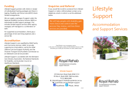 our Lifestyle Support brochure