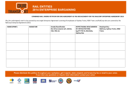 rail entities 2014 enterprise bargaining