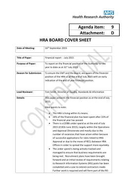 9D – HRA Board Finance Report July V4 FINAL