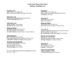 Summer Reading 2015 - Caddo Magnet High School