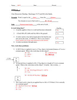 WORKsheet KEY