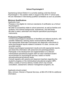 Job Description. - Spartanburg County School District 4