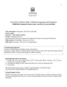 Syllabus - University of Ottawa