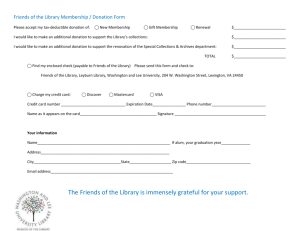Membership / Donation Form - The Washington and Lee University