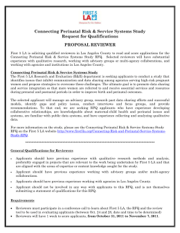 Connecting Perinatal Risk & Service Systems Study