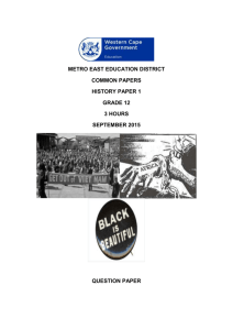 history paper 1 - Metro East Education District