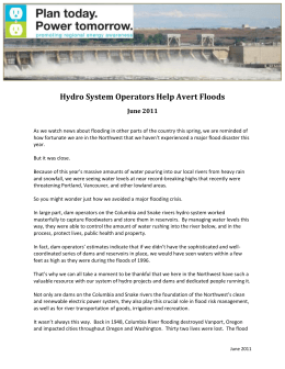 Hydrosystem Operators Avoid Flooding