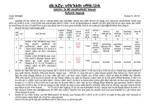 Sawai Madhdopur (2011) - Disaster Management & Relief Department