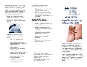 Our Flyer on Voice Care Here.