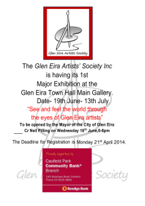 Registration Form Glen Eira Artists Society 2014 Exhibition