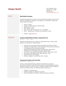 Resume - gingerbooth.com