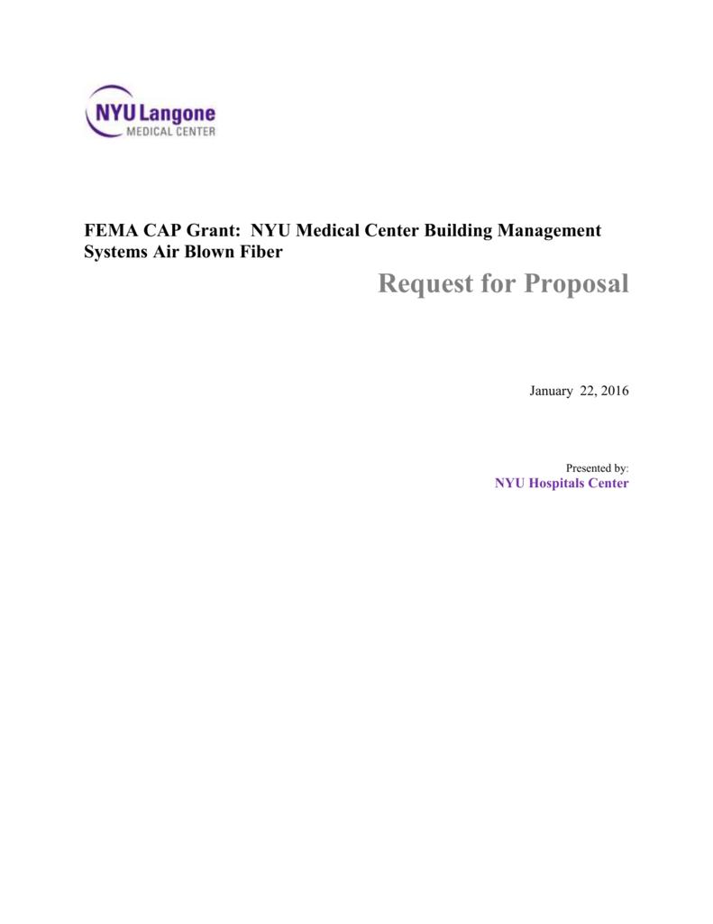 RFP Document - NYU Langone Medical Center