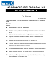 Religion and Peace booklet