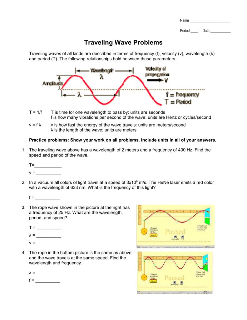 worksheet Wavelength Problems Worksheet 007000336 1 9da3325dea1035d95a7950e7e301c737 png