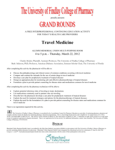 Travel Medicine - The University of Findlay