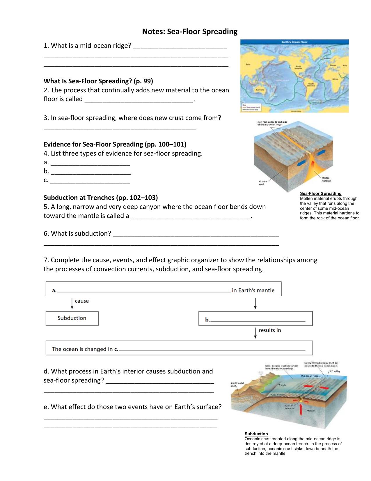 Ch. 3 Lesson 4 Notes-Sea Floor Spreading