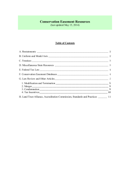List of Conservation Easement Resources